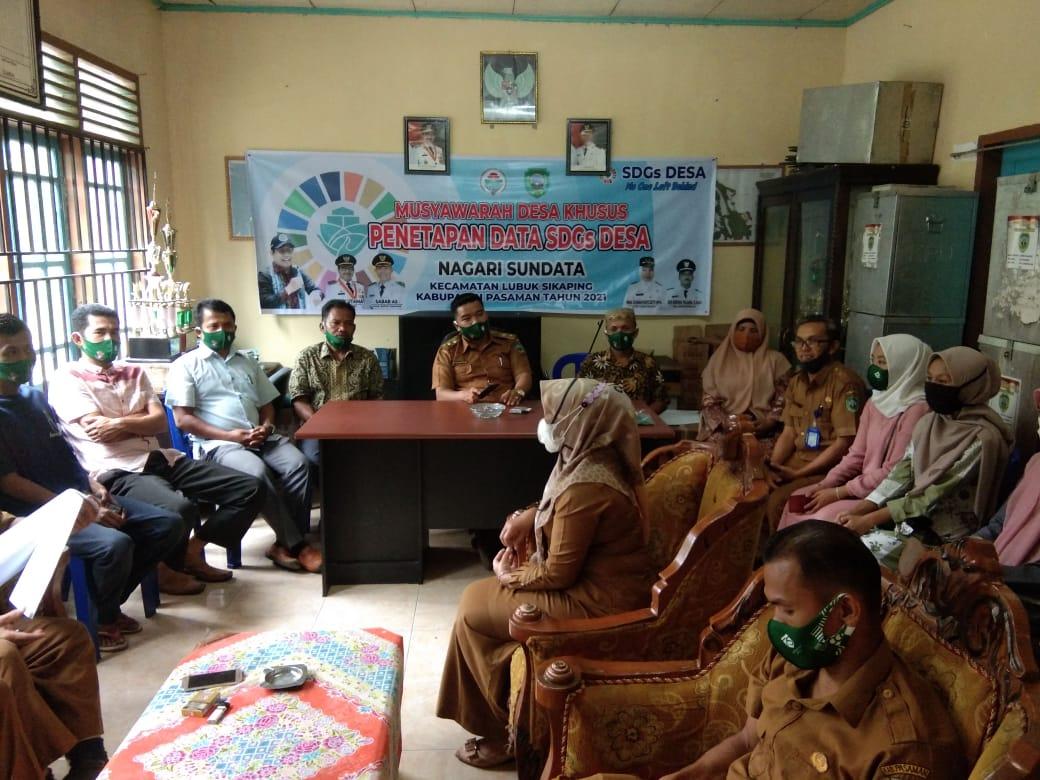Musyawarah Desa husus Penetapan Data SDGs Desa